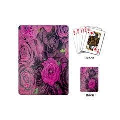 Oil Painting Flowers Background Playing Cards (mini)