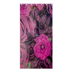 Oil Painting Flowers Background Shower Curtain 36  X 72  (stall)