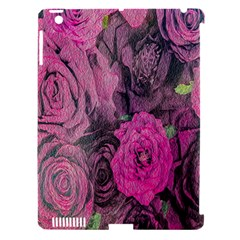 Oil Painting Flowers Background Apple Ipad 3/4 Hardshell Case (compatible With Smart Cover)