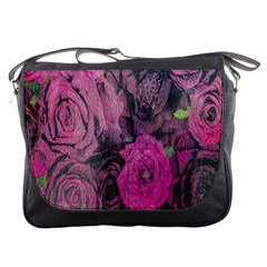 Oil Painting Flowers Background Messenger Bags