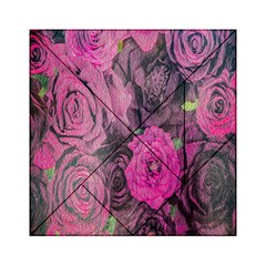 Oil Painting Flowers Background Acrylic Tangram Puzzle (6  x 6 )