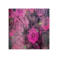 Oil Painting Flowers Background Acrylic Tangram Puzzle (4  x 4 )