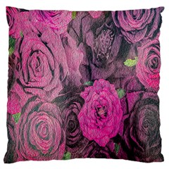 Oil Painting Flowers Background Large Cushion Case (one Side)