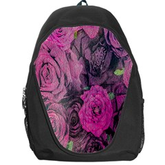 Oil Painting Flowers Background Backpack Bag