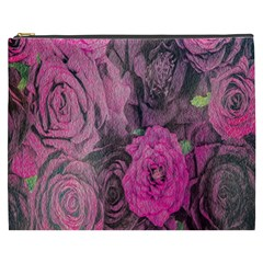 Oil Painting Flowers Background Cosmetic Bag (XXXL)