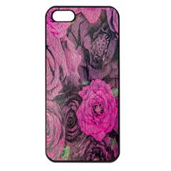 Oil Painting Flowers Background Apple iPhone 5 Seamless Case (Black)