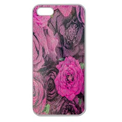 Oil Painting Flowers Background Apple Seamless iPhone 5 Case (Clear)