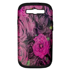 Oil Painting Flowers Background Samsung Galaxy S Iii Hardshell Case (pc+silicone)