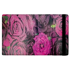 Oil Painting Flowers Background Apple iPad 3/4 Flip Case
