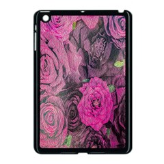 Oil Painting Flowers Background Apple Ipad Mini Case (black)
