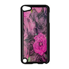 Oil Painting Flowers Background Apple Ipod Touch 5 Case (black)