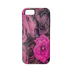 Oil Painting Flowers Background Apple Iphone 5 Classic Hardshell Case (pc+silicone)