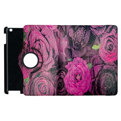 Oil Painting Flowers Background Apple Ipad 3/4 Flip 360 Case