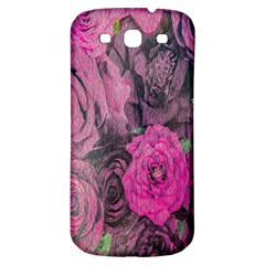 Oil Painting Flowers Background Samsung Galaxy S3 S Iii Classic Hardshell Back Case
