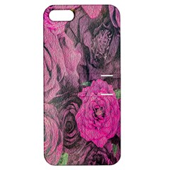 Oil Painting Flowers Background Apple Iphone 5 Hardshell Case With Stand