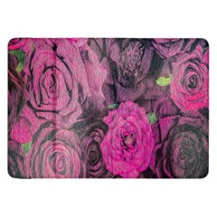Oil Painting Flowers Background Samsung Galaxy Tab 8 9  P7300 Flip Case