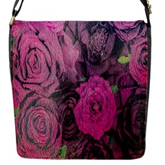 Oil Painting Flowers Background Flap Messenger Bag (S)