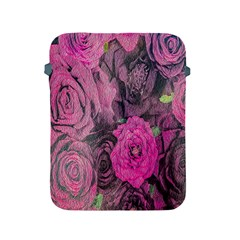 Oil Painting Flowers Background Apple iPad 2/3/4 Protective Soft Cases