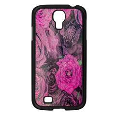 Oil Painting Flowers Background Samsung Galaxy S4 I9500/ I9505 Case (black)
