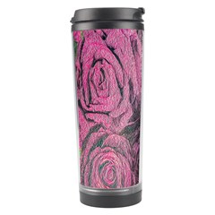 Oil Painting Flowers Background Travel Tumbler
