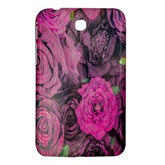Oil Painting Flowers Background Samsung Galaxy Tab 3 (7 ) P3200 Hardshell Case
