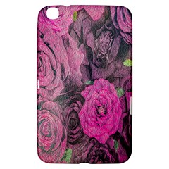 Oil Painting Flowers Background Samsung Galaxy Tab 3 (8 ) T3100 Hardshell Case