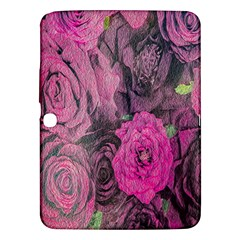 Oil Painting Flowers Background Samsung Galaxy Tab 3 (10 1 ) P5200 Hardshell Case