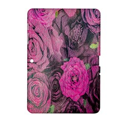 Oil Painting Flowers Background Samsung Galaxy Tab 2 (10.1 ) P5100 Hardshell Case