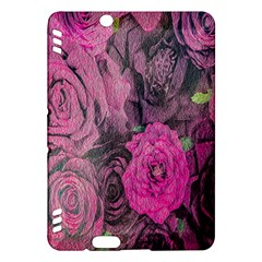 Oil Painting Flowers Background Kindle Fire Hdx Hardshell Case