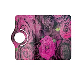 Oil Painting Flowers Background Kindle Fire Hd (2013) Flip 360 Case