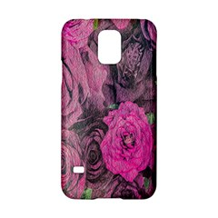 Oil Painting Flowers Background Samsung Galaxy S5 Hardshell Case