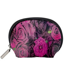 Oil Painting Flowers Background Accessory Pouches (small)