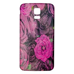 Oil Painting Flowers Background Samsung Galaxy S5 Back Case (white)