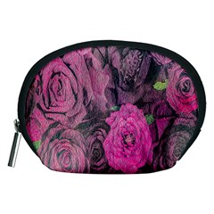 Oil Painting Flowers Background Accessory Pouches (Medium)