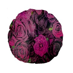 Oil Painting Flowers Background Standard 15  Premium Flano Round Cushions