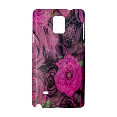 Oil Painting Flowers Background Samsung Galaxy Note 4 Hardshell Case