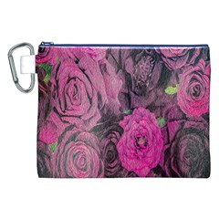 Oil Painting Flowers Background Canvas Cosmetic Bag (XXL)