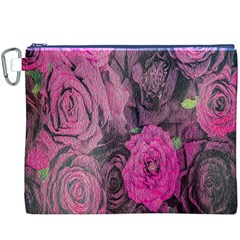 Oil Painting Flowers Background Canvas Cosmetic Bag (xxxl)