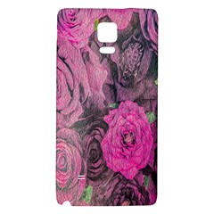 Oil Painting Flowers Background Galaxy Note 4 Back Case