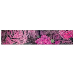 Oil Painting Flowers Background Flano Scarf (small)