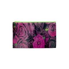 Oil Painting Flowers Background Cosmetic Bag (XS)
