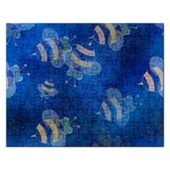 Seamless Bee Tile Cartoon Tilable Design Rectangular Jigsaw Puzzl