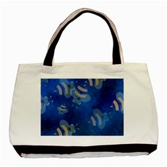 Seamless Bee Tile Cartoon Tilable Design Basic Tote Bag (two Sides)