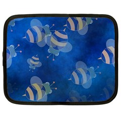 Seamless Bee Tile Cartoon Tilable Design Netbook Case (Large)