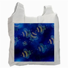Seamless Bee Tile Cartoon Tilable Design Recycle Bag (One Side)