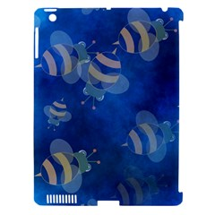 Seamless Bee Tile Cartoon Tilable Design Apple iPad 3/4 Hardshell Case (Compatible with Smart Cover)