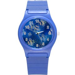 Seamless Bee Tile Cartoon Tilable Design Round Plastic Sport Watch (s)