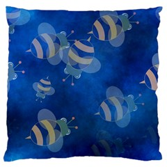Seamless Bee Tile Cartoon Tilable Design Large Cushion Case (two Sides)