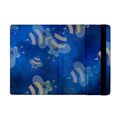 Seamless Bee Tile Cartoon Tilable Design Apple iPad Mini Flip Case