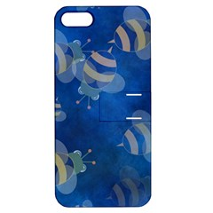 Seamless Bee Tile Cartoon Tilable Design Apple Iphone 5 Hardshell Case With Stand